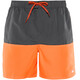 "Nike Swim Core Split Volley zwembroek Heren 5,5"" grijs/oranje"